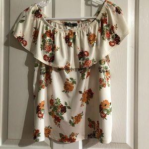 Cute Floral blouse size large Pinc